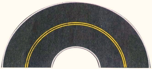 Walthers SceneMaster HO 949-1253 Flexible Self-Adhesive Paved Roadway, Vintage and Modern Curves