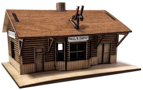 Osborn Model Kits HO 1119 Paul's Depot Train Station Kit