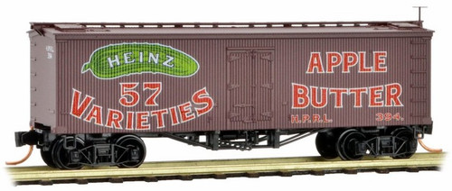 Micro-Trains N 05800330 36' Wood Sheathed Ice Refrigerator Car with Truss Rods, Heinz Car #8
