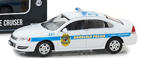 Greenlight Collectibles O 86518 Honolulu Police 2010 Chevrolet Impala Cruiser, Hawaii Five-O (1:43)