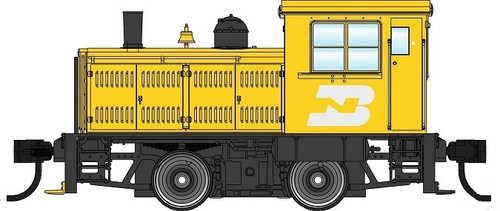 Walthers Mainline HO 910-20007 Plymouth ML-8 Industrial Switcher, Burlington Northern (DCC Equipped)