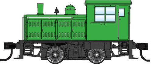 Walthers Mainline HO 910-20009 Plymouth ML-8 Industrial Switcher, Unlettered Green with Decals (DCC Equipped)