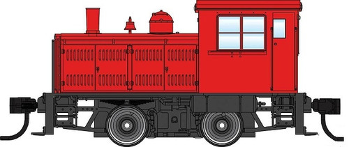 Walthers Mainline HO 910-20010 Plymouth ML-8 Industrial Switcher, Unlettered Red with Decals (DCC Equipped)