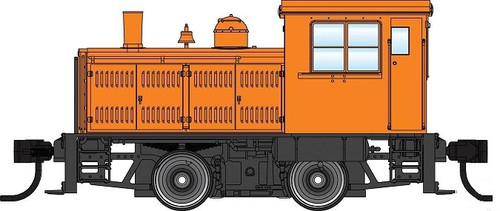 Walthers Mainline HO 910-20011 Plymouth ML-8 Industrial Switcher, Unlettered Orange with Decals (DCC Equipped)