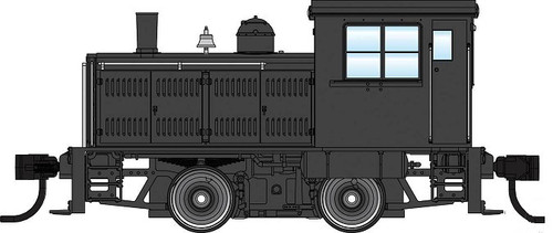 Walthers Mainline HO 910-20012 Plymouth ML-8 Industrial Switcher, Unlettered Black with Decals (DCC Equipped)