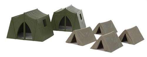 Walthers SceneMaster HO 949-4165 Camping Tents (4 Small and 2 Large Tents)