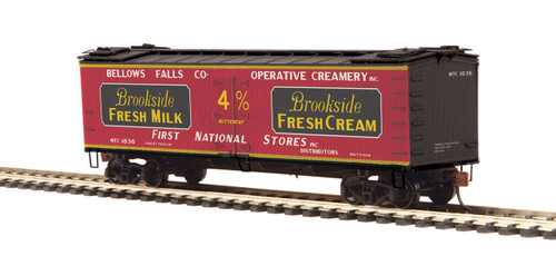 MTH HO 80-94055 R40-2 Woodside Refrigerator Car, Brookside Fresh Milk #1836