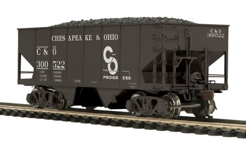 MTH HO 80-97087 USRA 55-Ton Steel Twin Hopper Car, Chesapeake and Ohio #300522