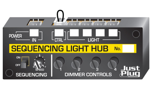 Woodland Scenics JP5680 Just Plug Lighting System, Sequencing Light Hub