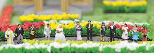 Tomix (Tomytec) N 281337 Japanese Wedding Scene Figures (12)