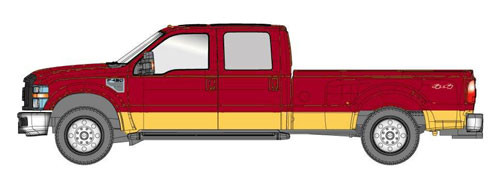 River Point Station HO 536545515 2008 Ford F-450 Series Super Duty 4X4 DRW (Metallic Red with Gold Accent)