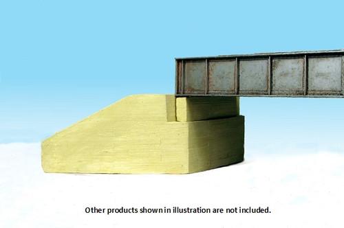 Monroe Models HO 555 Bridge Abutment, Board-Formed Concrete for Plate Girder Bridge Alternate (2)