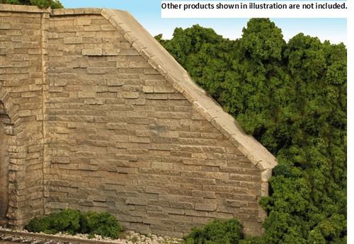 Monroe Models HO 703 Wing Wall, Split Stone Surface (2)