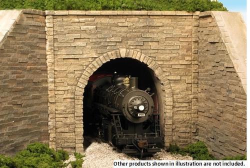 Monroe Models HO 710 Single Track Tunnel Portal, Split Stone Surface
