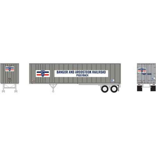 Athearn N 15137 40' Exterior Post Trailer, Bangor and Aroostook #201011