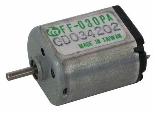 A.E. Corporation DCM-433 2-8 VDC Mini-Motor, Mabuchi Motor #FF-030PA 08250, 10,500 RPM