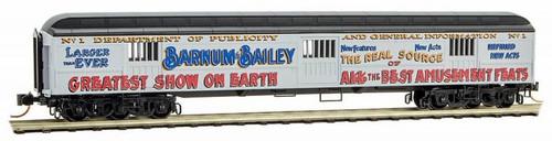 Micro-Trains N 14900210 70' Heavyweight Horse Car, Ringling Bros. and Barnum & Bailey #1