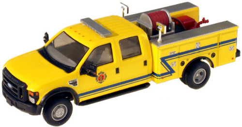 "River Point Station HO 538540286 Ford F-550 XLT Crew Cab, Yellow DRW (Black Grille and Bumpers, 17"" Argent Wheels)"