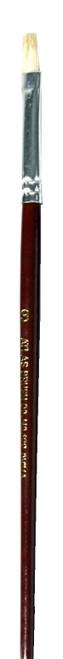 Atlas Brush Co. 122-3 Flat White Bristle Brush #3