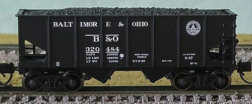 "Bluford Shops N 60361 USRA 30"" 6' 2-Bay Hopper, Baltimore and Ohio #320484"
