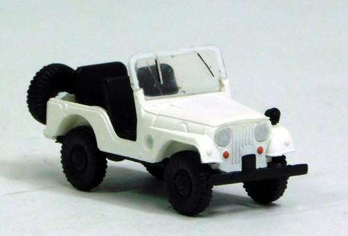 Brekina HO 58902 1950s-1980s Jeep Universal SUV (White)