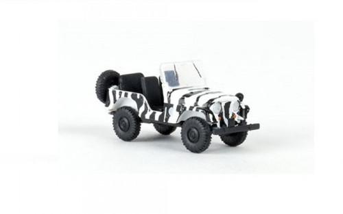 Brekina HO 58903 1950s-1980s Jeep Universal SUV, Safari (with Black Zebra Stripe)