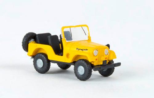 Brekina HO 58905 1950s-1980s Jeep Universal SUV Renegade (Yellow)