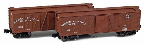 American Z Line Z 903180-1 40' Outside Braced Box Cars, Northern Pacific (2-Pack)