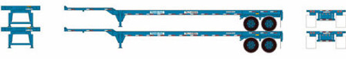 Athearn HO 28839 45' Chassis, TransPac (2)
