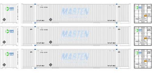 Athearn HO 72590 53' Marten Intermodal Container, CFQU (3)