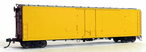 Moloco HO 33100-HC Hydra-Cushion FGE 50' RBL Plt B 7+7R 10 Box Car with Center Door/Door Loop, Undecorated (Delivery Paint)