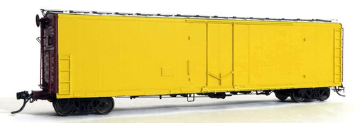 Moloco HO 33100-KY Keystone FGE 50' RBL Plt B 7+7R 10 Ctr Box Car with Center Door/Door Loop, Undecorated (Delivery Paint)