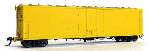Moloco HO 33200-HC Hydra-Cushion FGE 50' RBL Plt B 7+7R 10 Box Car with Center Door/Door Loop, Undecorated (All Yellow)