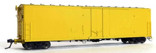 Moloco HO 33200-KY Keystone FGE 50' RBL Plt B 7+7R 10 Box Car with Center Door/Door Loop, Undecorated (All Yellow)