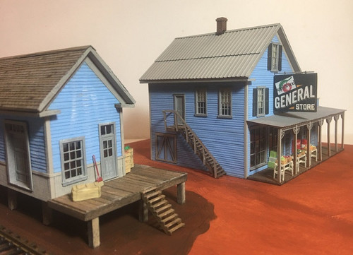 Motrak Models HO 83006 Applewood General Store with Freight Depot Kit