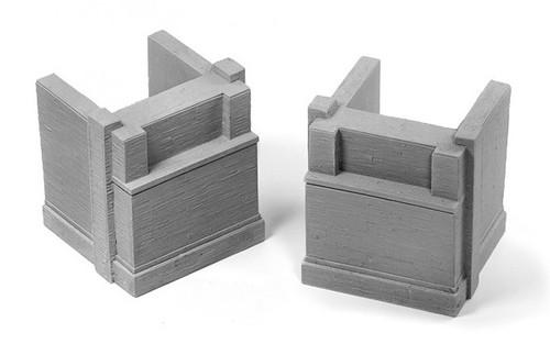 Ztrains Scale Models ZTR-101 Poured Concrete Bridge Abutments (6)