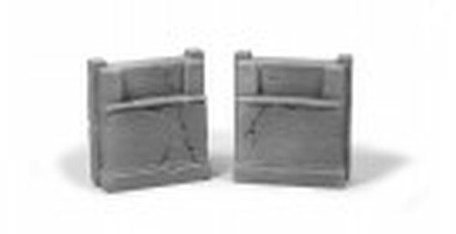 Ztrains Scale Models ZTR-102 Aged Concrete Bridge Abutments