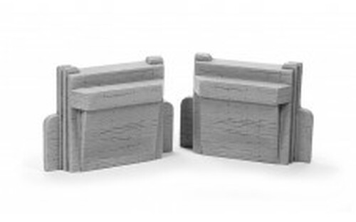 Ztrains Scale Models ZTR-103 Art Deco Bridge Abutments
