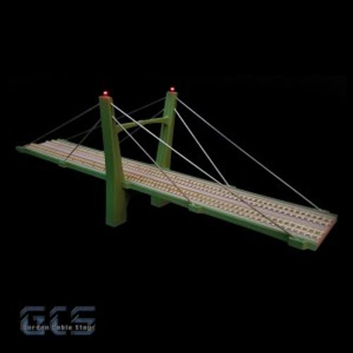 """Gordon Cable Stay N CS15D-NZ 15"""" Two Lane Suspension Bridge Kit"""