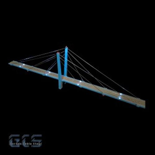 "Gordon Cable Stay N CS30-NZ 30"" Suspension Bridge Kit"