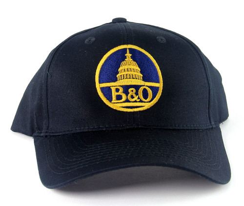 Nissin Black Embroidered Adjustable Hat, Baltimore and Ohio Capitol Dome Logo