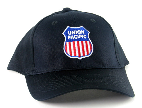 Nissin Black Embroidered Adjustable Hat, Union Pacific Shield Logo