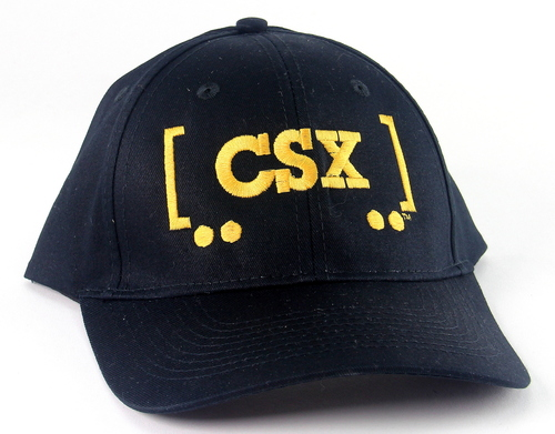 Nissin Black Embroidered Adjustable Hat, CSX Box Car Logo