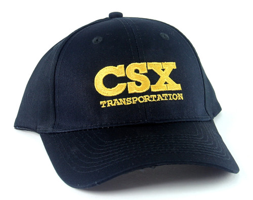 Nissin Black Embroidered Adjustable Hat, CSX Transportation