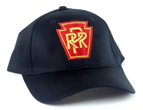 Nissin Black Embroidered Adjustable Hat, Pennsylvania Railroad Keystone Logo