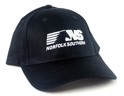 Nissin Black Embroidered Adjustable Hat, Norfolk Southern Horsehead Logo