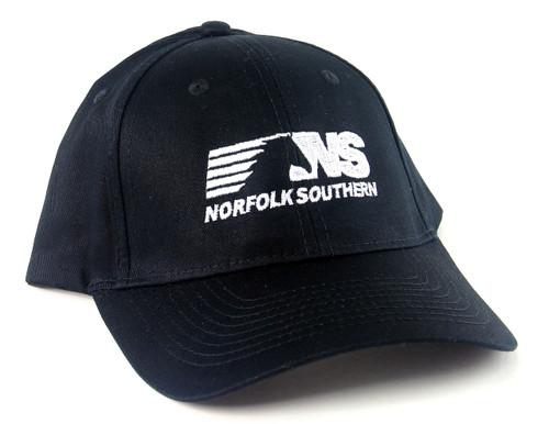 Nissin Black Embroidered Adjustable Hat, Norfolk Southern Horsehead Logo
