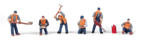 Walthers SceneMaster HO 949-6066 Railroad Track Workers Set #1 (6)