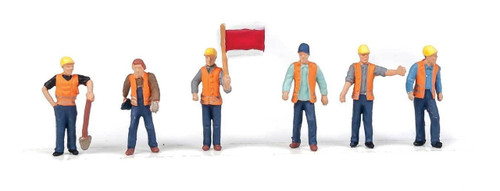 Walthers SceneMaster HO 949-6067 Railroad Track Workers Set #2 (6)