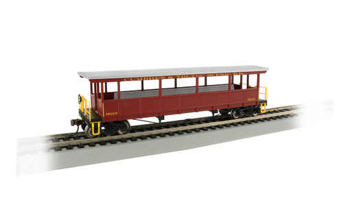 Bachmann Silver Series HO 17433 Open Sided Excursion Car, Cumbres and Toltec #9619